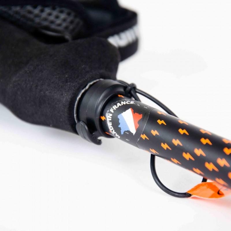 Bâton de randonnée Guidetti Flashlock Ambre alu-carbone